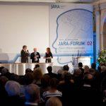 Eventmoderation | JARA-Forum 02 | Kristina zur Mühlen mit RWTH-Aachen-Rektor Ernst Schmachtenberg und FZ Jülich-Chef Achim Bachem