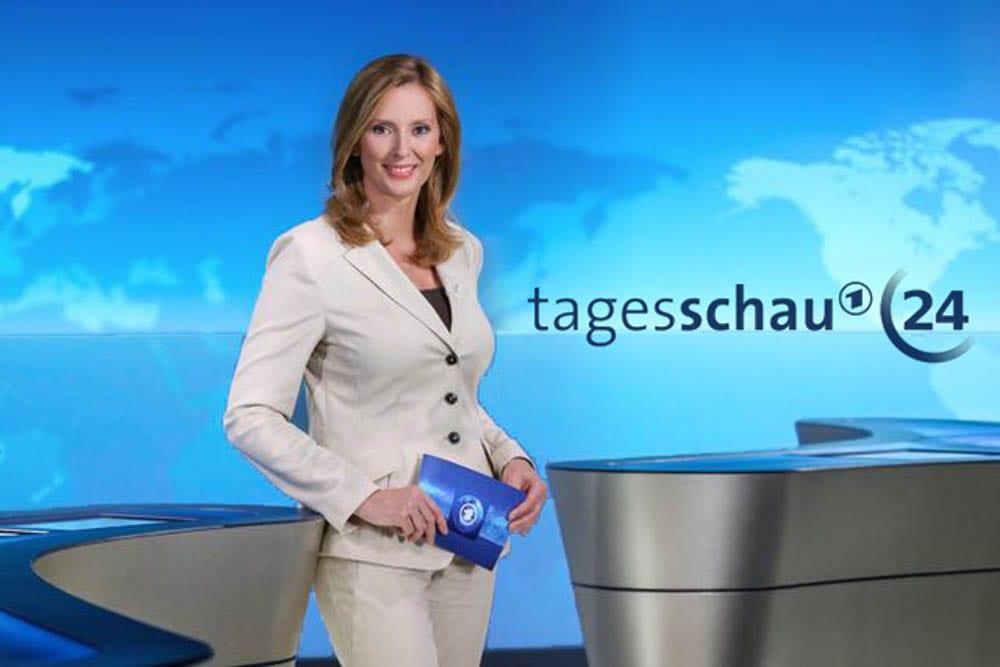 Kristina zur Mühlen im Tagesschau24-Studio