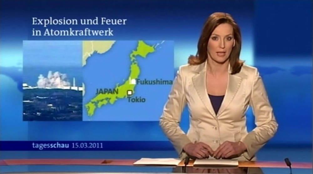 Tagesschau-Moderatorin Kristina zur Mühlen |Fukushima |Sondersendung |2011
