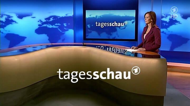 TV-Moderatorin Kristina zur Mühlen |Tagesschau-Studio
