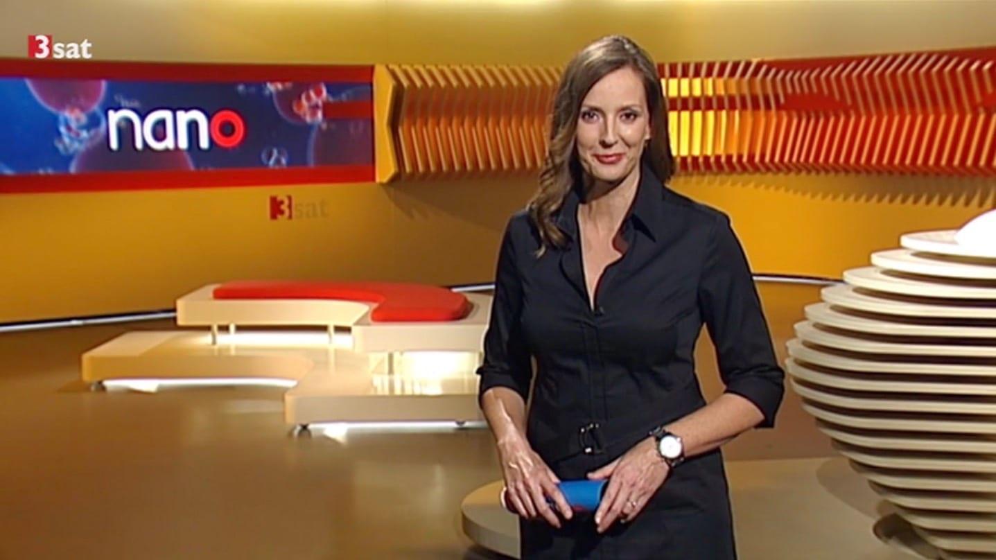TV-Moderatorin Kristina zur Mühlen im nano-Studio