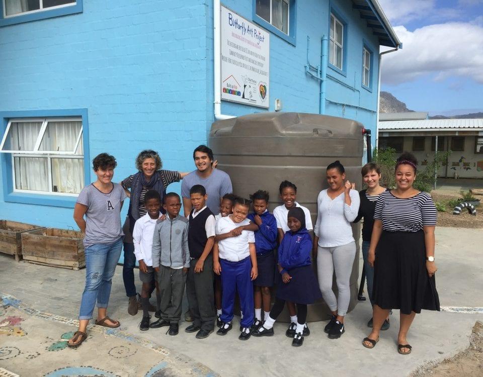 Spenden-Wassertank für die Kinder in Südafrika