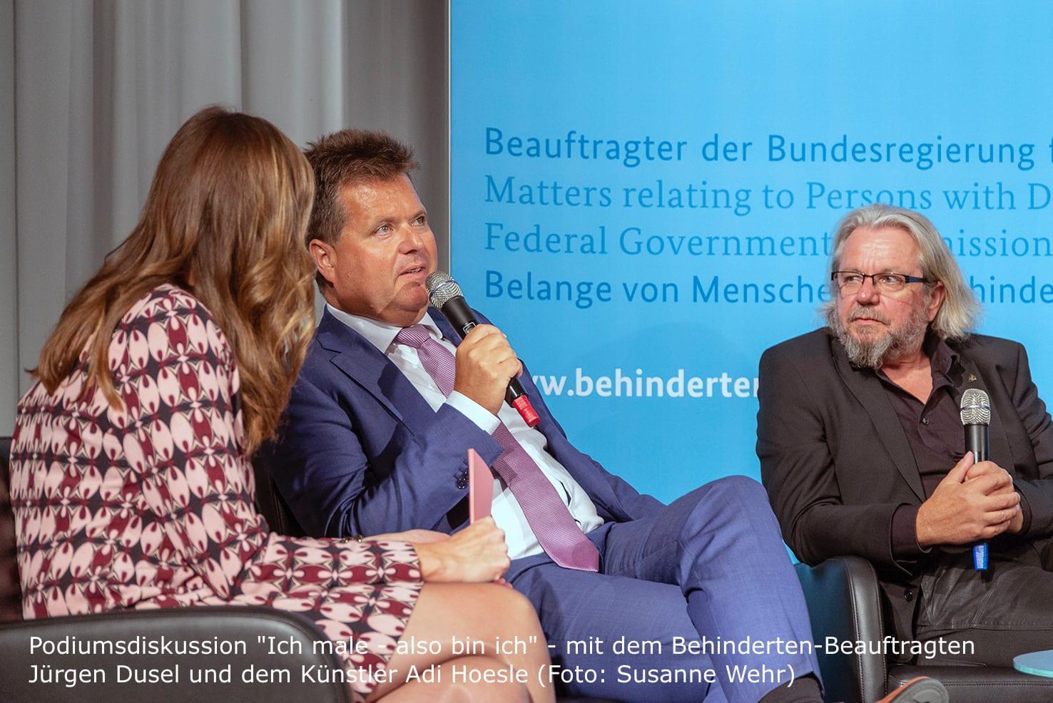 Podiumsdiskussion - Ich male also bin ich  Kristina zur Mühlen im Gespräch mit Jürgen Dusel  Behindertenbeauftragter