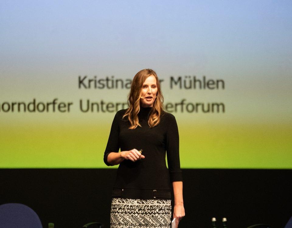 Keynote Speakerin Kristina zur Mühlen auf dem Schorndorfer Unternehmerforum 2018