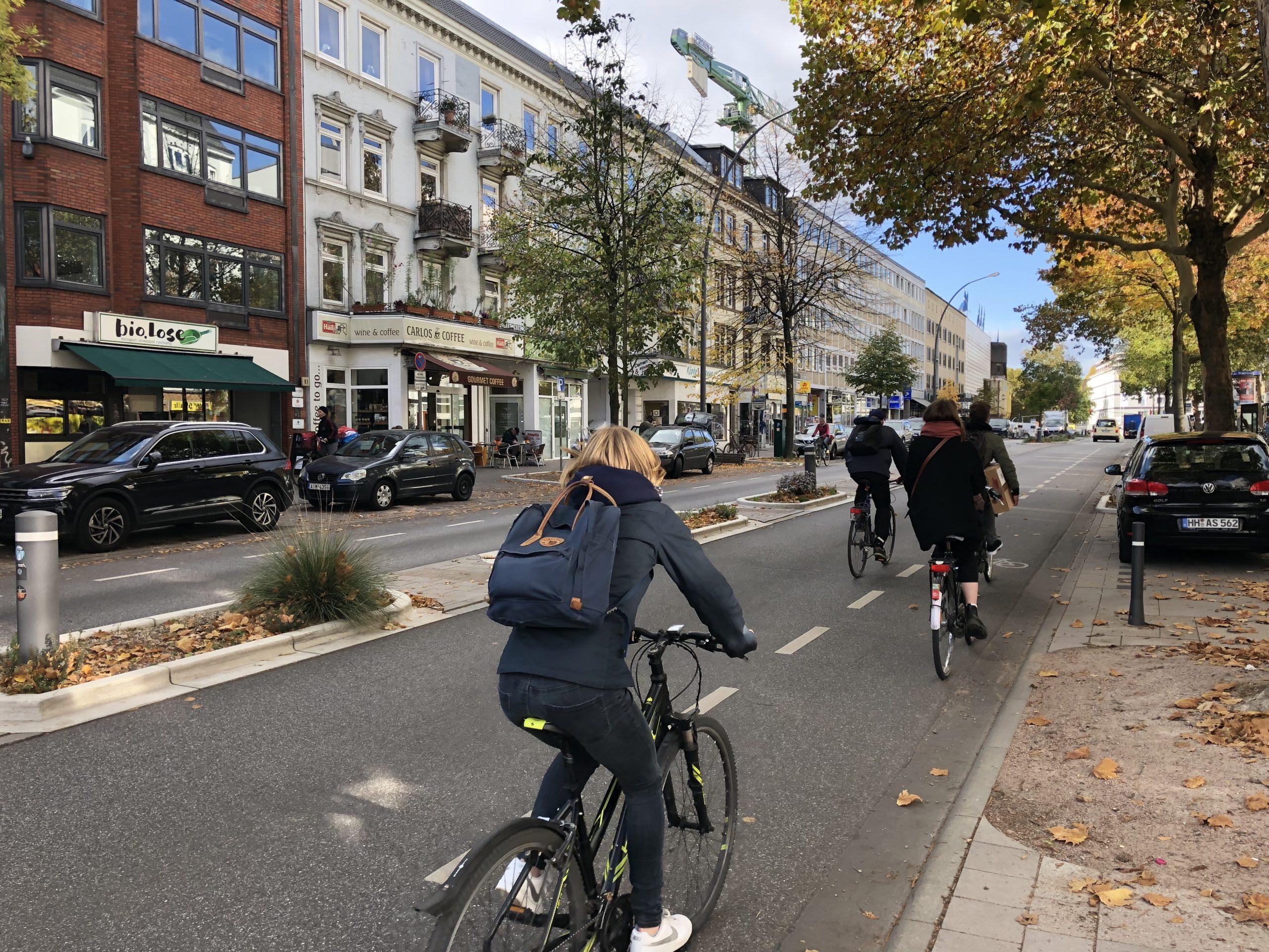 Radfahrer in Hamburg