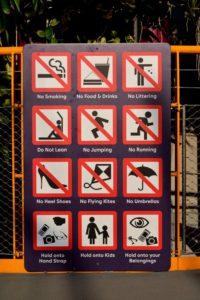 Verbotszeichen in Singapur