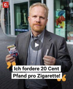Petition |20 Cent Pfand pro Zigarette