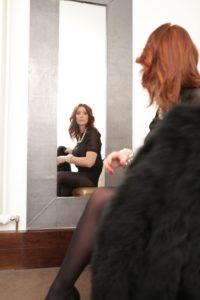 Kristina zur Mühlen beim Shooting