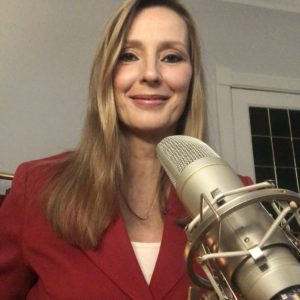 Moderatorin Kristina zur Mühlen am Mikrofon