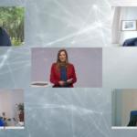 Kristina zur Mühlen |Bildschirmansicht der Paneldiskussion mit 4 Gästen