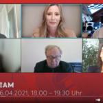 Diskussion im Livestream  Screenshot Bildschirmansicht